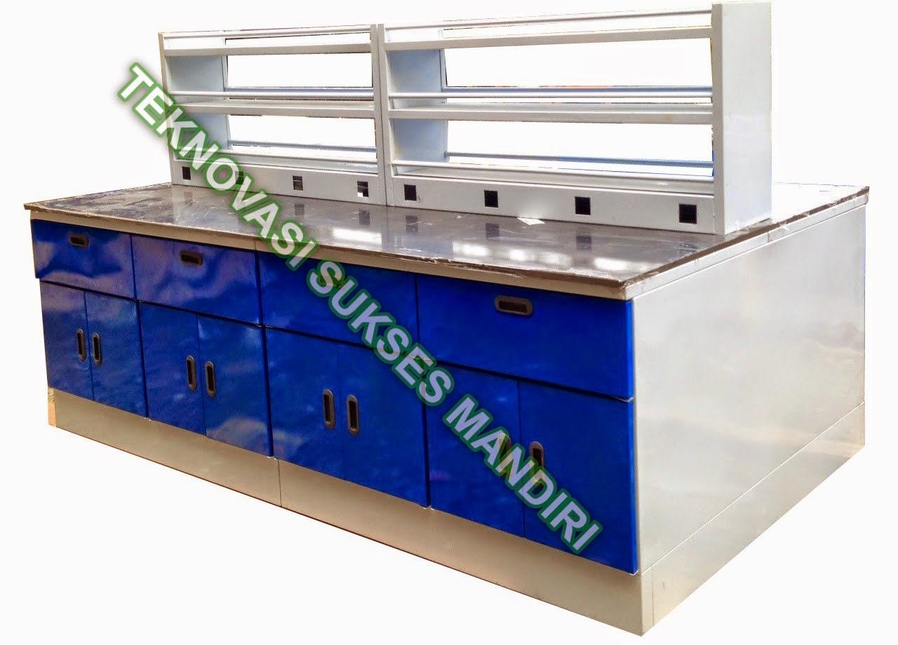Meja Laboratorium : Island Bench