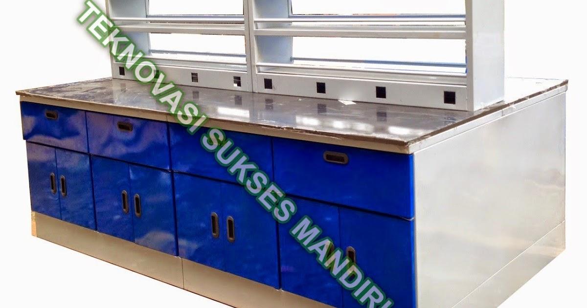 Meja Laboratorium Island Bench Steel Jual Furniture