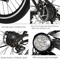 Components on Ancheer Power Plus Electric Mountain Bike