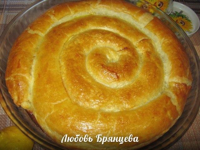 как приготовить пирог улитка