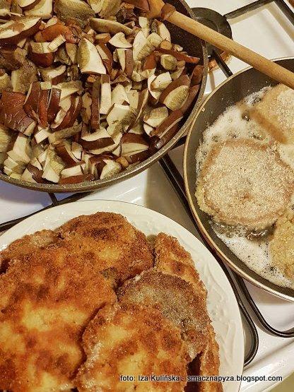 grzyby na obiad, danie grzybowe, potrawy z grzybów, podgrzybki duszone, kanie smazone, grzyby smazone