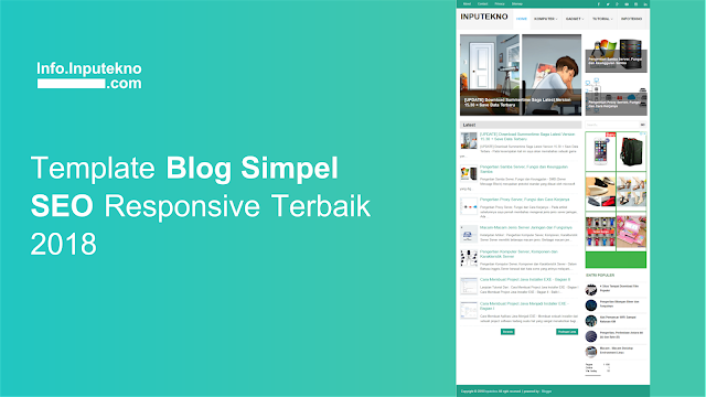 Free Template Blog Simple SEO Friendly Responsive Terbaik 2020