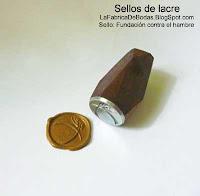 venta fabrica Sello lacre dorado con logo para invitacion fundacion contra el hambre guatemala