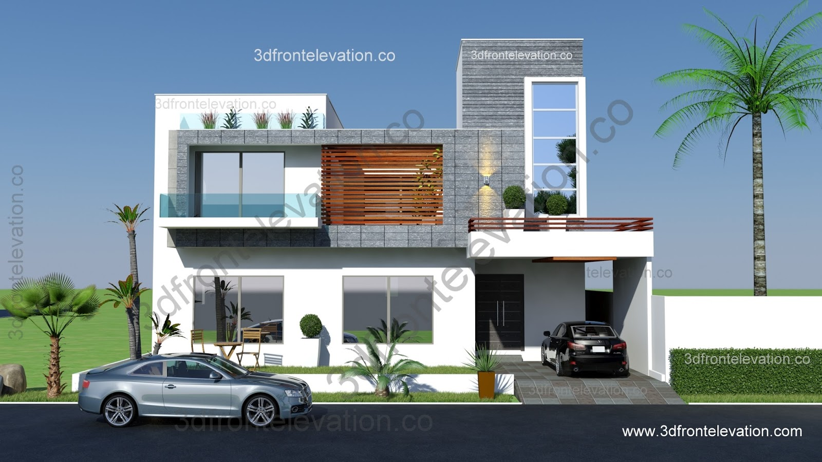 Front Elevation Of 8 Marla House : D front elevation marlaz marla