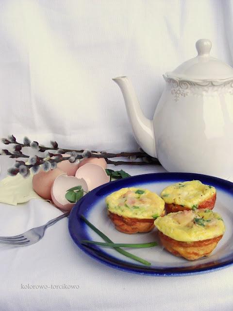 """Śniadaniowe """"muffiny"""" jajeczne"""