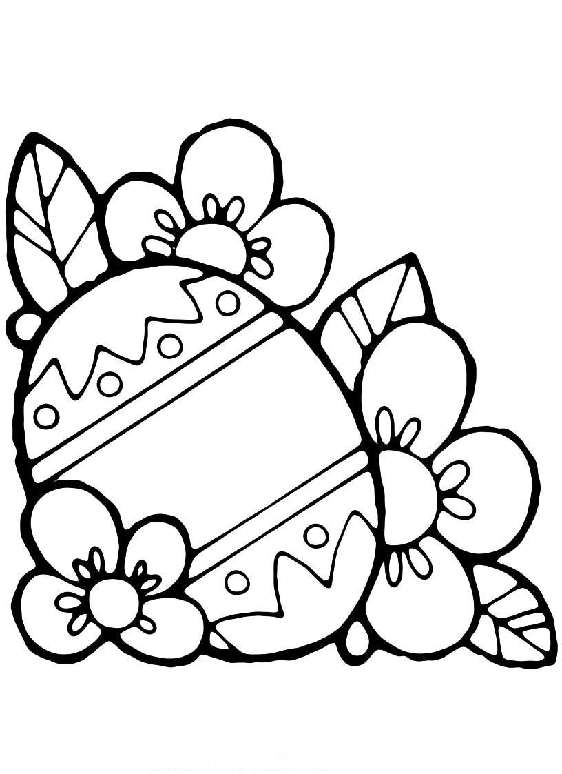 Раскраски деткам: Пасхальные раскраски скачать
