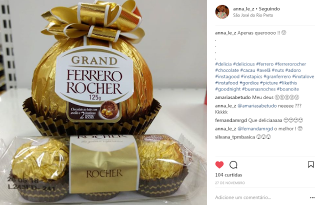 ferrero rocher chocolate cacau