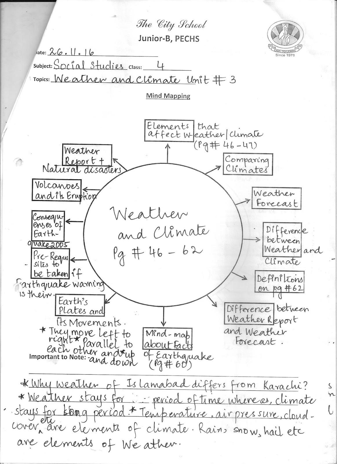 The City School Social Studies Grade 4 Reinforcement Worksheets
