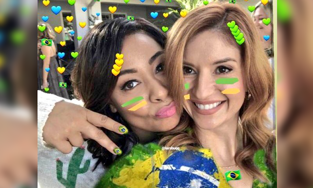 """Atrizes de """"As Visões da Raven"""" torcem para o Brasil na Copa"""