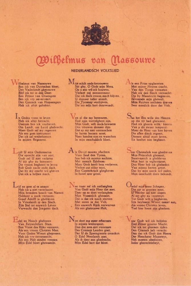 Steekproef Van Een Les Poezie En Het Wilhelmus Cornelius Haga