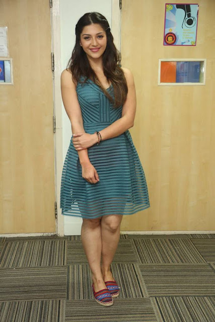 Mehreen Stills At Raja The Great Movie Song Launch At Radio City