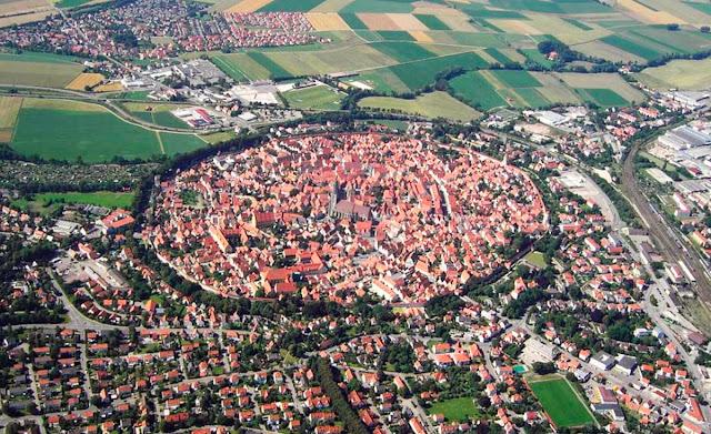 vista aérea de Nordlingen - Alemanha