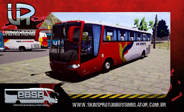 Skin Proton Bus Simulator Road - Vissta Buss LO O-500 RS Viação Pluma Internacional