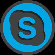 skype icon outline