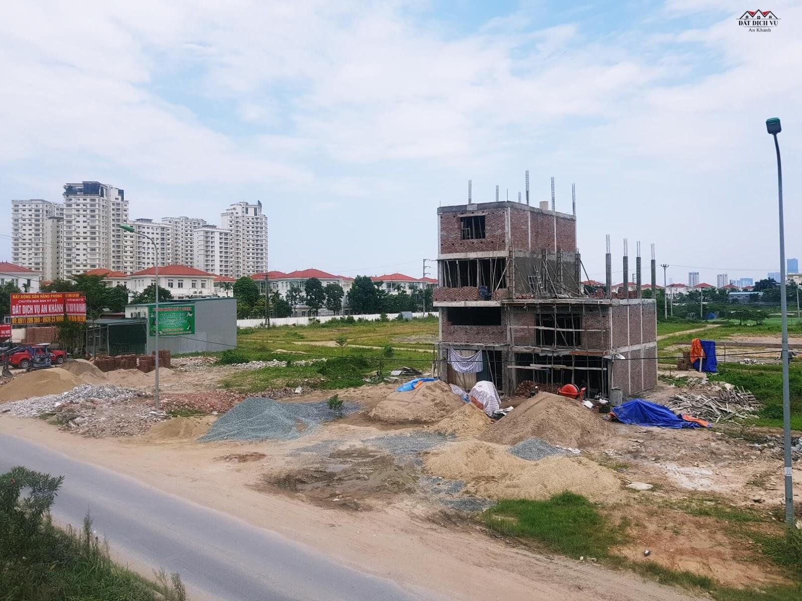 Hình ảnh khu đất dịch vụ An Khánh