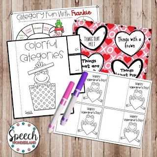 Speech Wonderland Valentine's Day Hop Freebie
