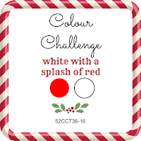 52 CCT Colour Challenge, white with a splash of red