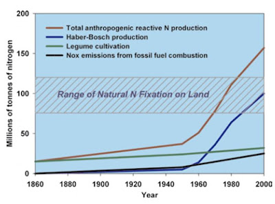 Productie van nitraat sinds 1860