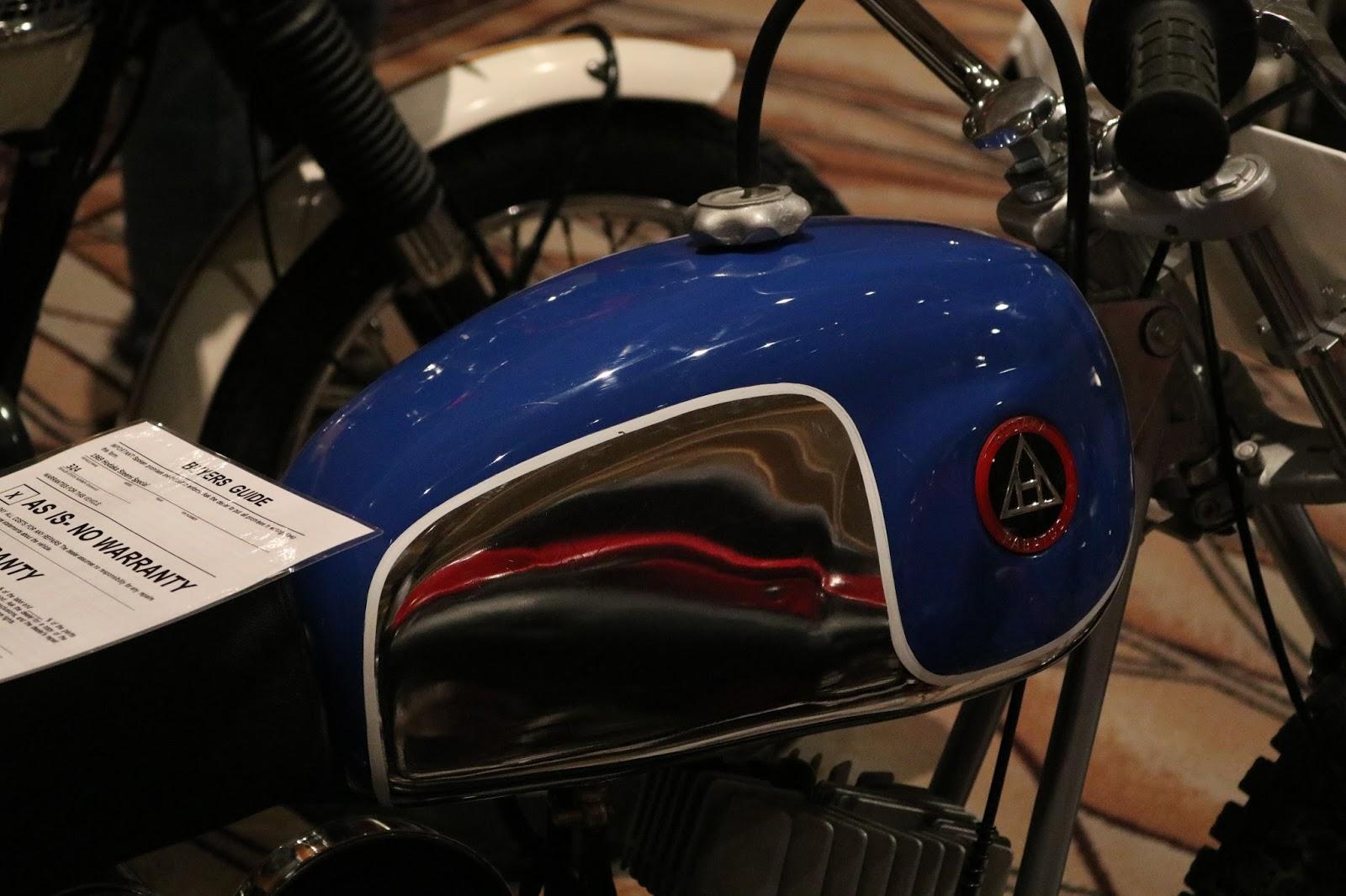 Evel Knievel Bike At Bonham S Las Vegas Moto Auction: OldMotoDude: 1969 Hodaka Steens Flat Tracker $7,475 At The