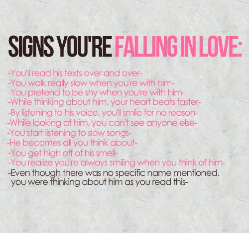 tanda-tanda anda sedang jatuh cinta