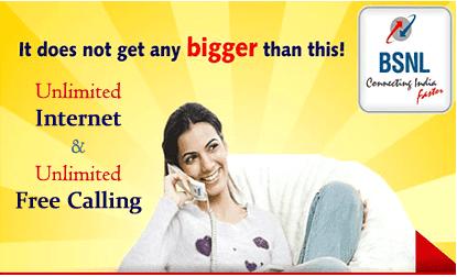 BSNL unlimited internet plan 1199