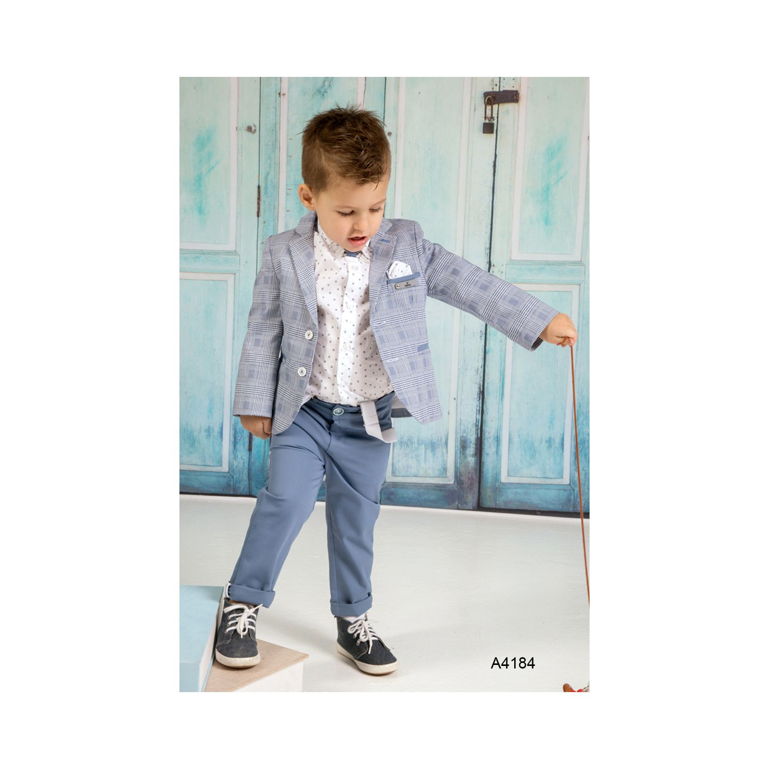 Classic baptism suit for boy A4184
