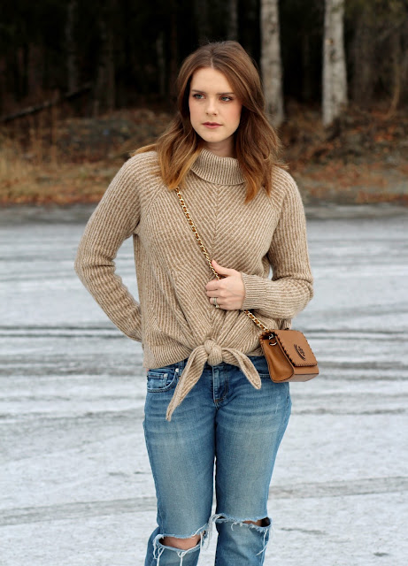Anthropologie Cashmere Sweater Outfit