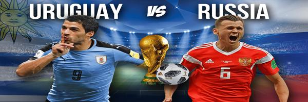 موعد مباراة روسيا واوروجواى اليوم الاثنين 25-6-2018