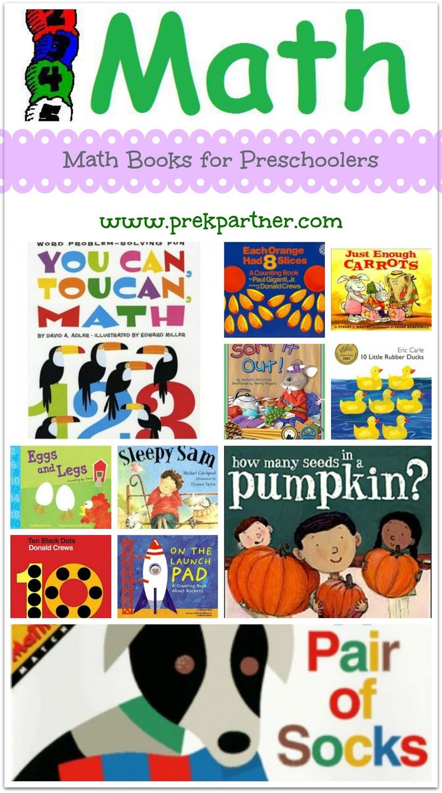 math books preschool preschoolers maths kindergarten children prekpartner teaching sorting library science activities homework help google curriculum australian literature reading