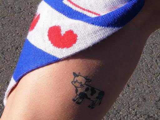 Pequena Vaca Tatuagem