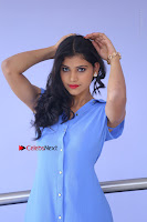 Telugu Actress Mounika UHD Stills in Blue Short Dress at Tik Tak Telugu Movie Audio Launch .COM 0076.JPG