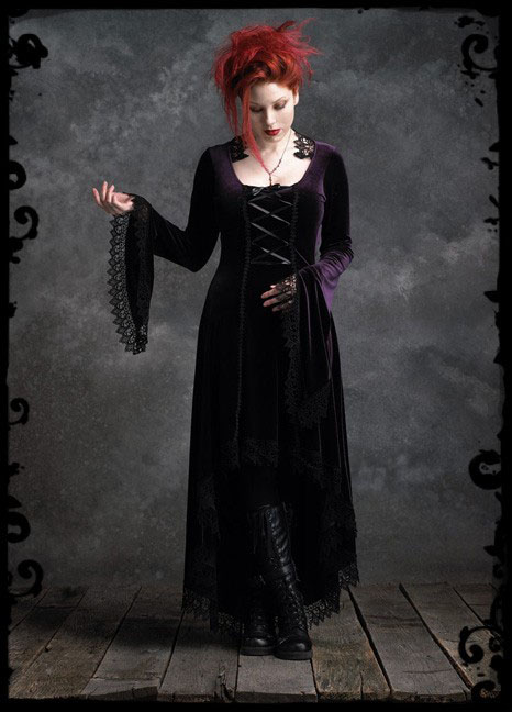 Medieval Dark Promenade Dresses   Handmade Victorian ...