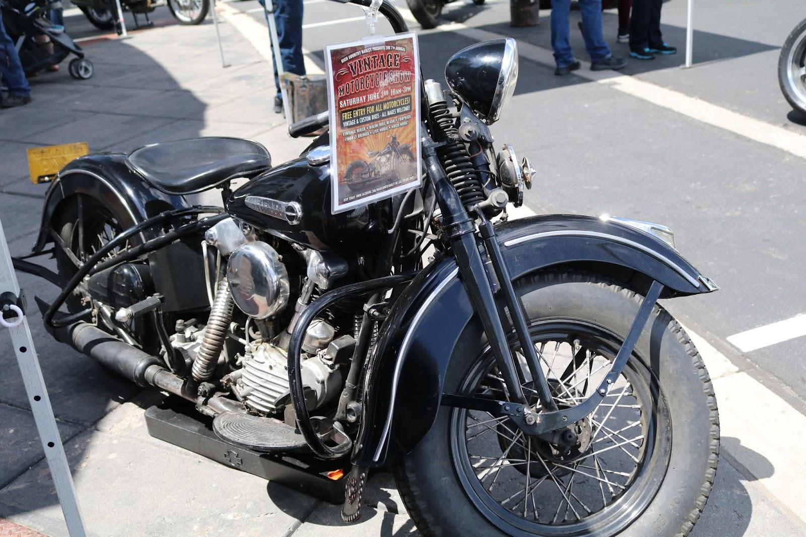 Oldmotodude 1947 Harley Davidson Knucklehead On Display