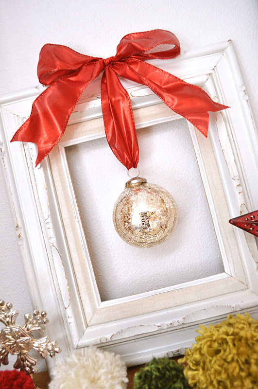framed christmas ornament {tutorial} | Little Birdie Secrets