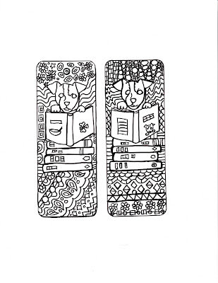 coloring bookmark