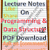 Programming and Data Structure Notes PDF