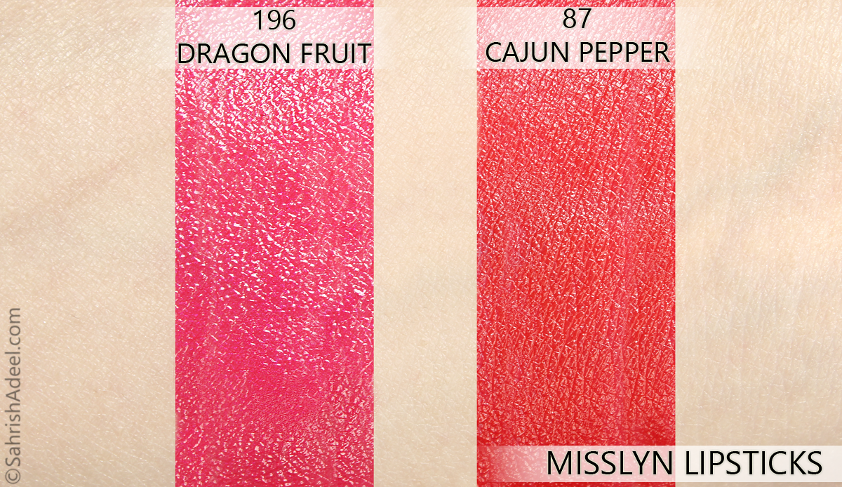 Lipsticks by Misslyn - Review & Swatches