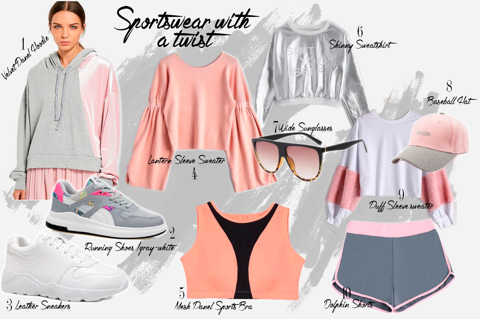 Sport chic outfit ideas for fall - velvet hoodie- running shoes under $100
