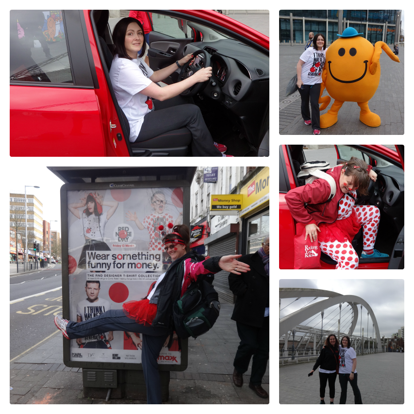 Arriving at Wembley for danceathon Comic Relief 2015