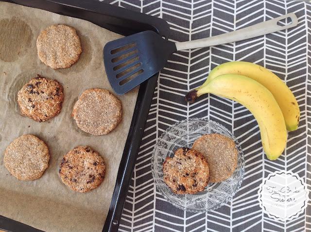 ciasteczka bananowe fit dwa składniki twobrokesisters