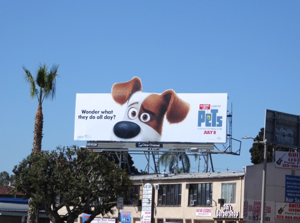 Secret Life of Pets Terrier Max billboard