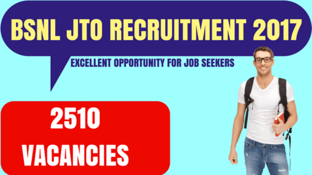 BSNL JTO Recruitment through GATE 2017 | Apply online for BSNL JTO Recruitment Notification 2017| The online application form for the BSNL JTO Recruitment 2017 is now available from March 6. The last date to apply BSNL JTO Recruitment 2017 is April 6. Bharat Sanchar Nigam Limited (BSNL) has announced to recruitment of 2510 JTOs through GATE 2017 score. Candidates can register for BSNL JTO Recruitment through GATE 2017 from this page. Bharat Sanchar Nigam Limited (BSNL) will be recruiting Junior Telecom Officers (JTO) in the discipplines of Telecom, Electronics, Electrical, Radio, Computer Science, Information Technology, Instrumentation Engineering on the basis of valid GATE 2017 scores. Candidates having M.Sc. Degree in Electronics/Computer Science are also eligible.There will be no interview for this recruitment and it will solely be on the basis of the GATE scores of the candidates. The BSNL will be hiring 2,510 graduate engineers for the post of JTOs making it the largest recruitment through GATE 2017. Candidates are required to appear for GATE 2017 in order to be considered eligible for recruitment. The application forms will be online and candidates will have to fill the online application after entering the GATE registration No which will be mentioned on the GATE 2017 Admit Card of the candidates. Check below the detailed information for the BSNL JTO Recruitment 2017 such as eligibility criteria, important dates, selection process, application process etc./2017/03/Bharat-Sanchar-Nigam-Limited-bsnl-jto-recruitment-through-gate-2017.html