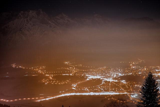 Nachtrodeln und Winterwandern in Saalfelden-Leogang  im Salzburgerland  Winterwanderung zur Einsiedelei  Nachtrodeln am Biberg 04