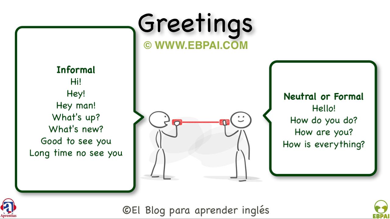 El Blog Para Aprender Inglés Cómo Saludar En Inglés Formal