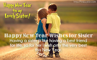 New Year Quotes for Sister 2017