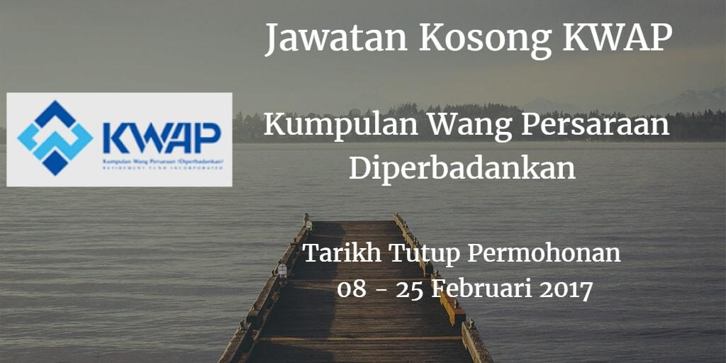 Jawatan Kosong KWAP 08 - 25 Februari 2017