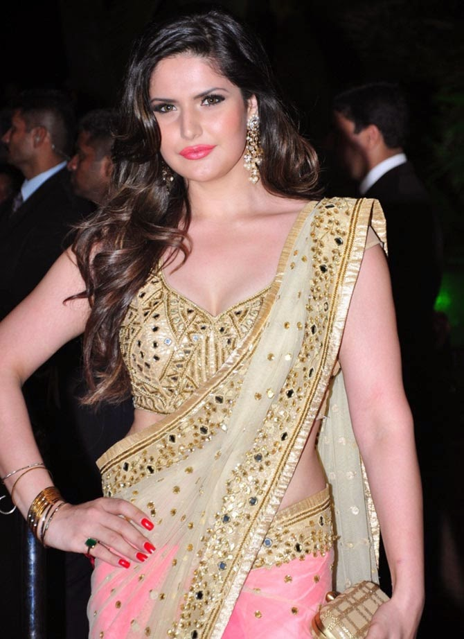 Zarine Khan, Pics from Arpita-Ayush's Wedding reception