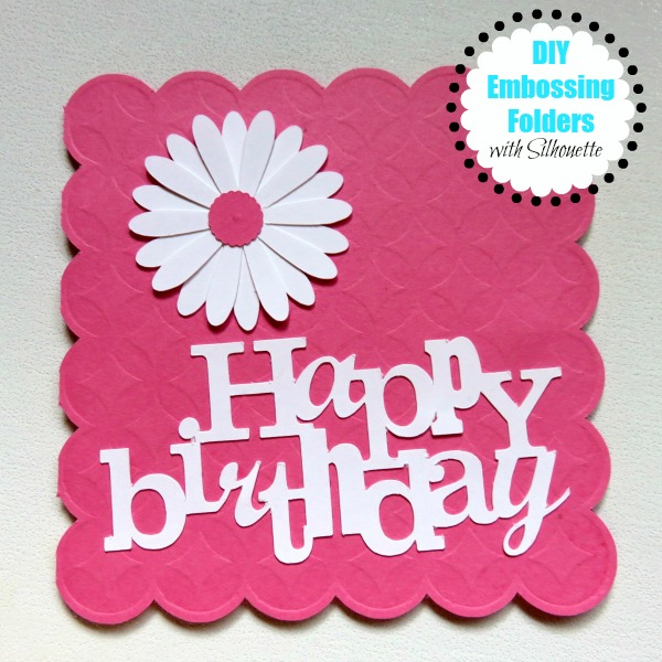Silhouette tutorial, DIY, do it yourself, embossing folders