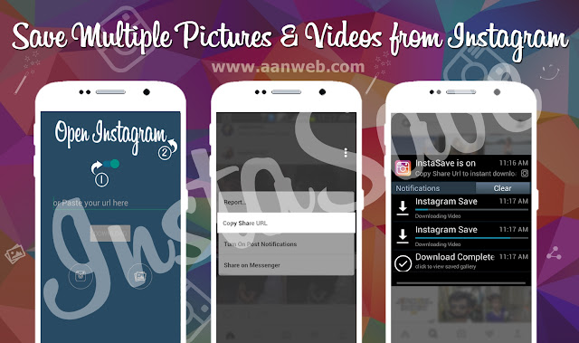 cara download gambar, foto, di video instagram