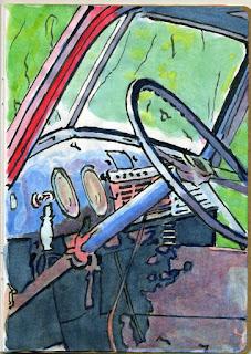 """""""1947 Chevrolet Truck"""" - Watercolor by Paul Sherman"""